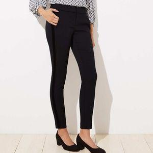 New Loft velvet stripe ankle pants